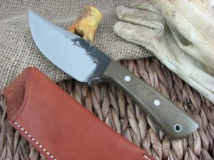 Lon Humphrey Brute De Forge Clip Point with OD Green Micarta handles and 1095 steel