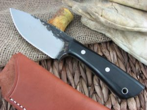 Lon Humphrey Brute De Forge Drop Point with Black Micarta handles and 1095 steel