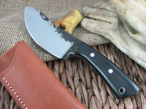 Lon Humphrey Brute De Forge Nessmuk with Black Micarta handles and 1095 steel