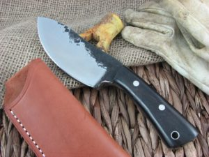 Lon Humphrey Brute De Forge Nessmuk with Black Wood handles and 1095 steel