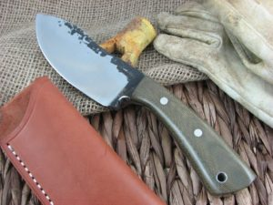 Lon Humphrey Brute De Forge Nessmuk with OD Green Micarta handles and 1095 steel