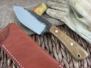 Lon Humphrey Brute De Forge Spear Point with Natural Micarta handles and 1095 steel