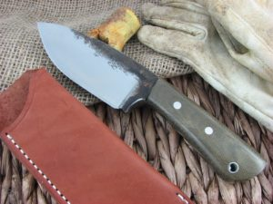 Lon Humphrey Brute De Forge Spear Point with OD Green Micarta handles and 1095 steel