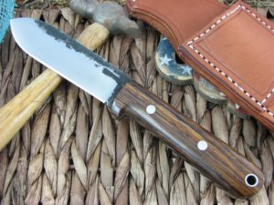 Lon Humphrey Kephart Flat Spear with Cocobolo Wood handles and 1095 steel