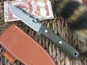Lon Humphrey Kephart Spear with OD Green Micarta handles and CPM3V steel