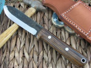 Lon Humphrey Kephart Scandi Spear with Cocobolo Wood handles and 1095 steel