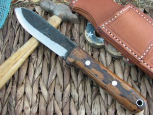 Lon Humphrey Kephart Scandi Spear with Desert Ironwood handles and 1095 steel