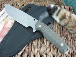 Viper Cutlery Borr Black Canvas Micarta Voxnaes Hunter Fixed Blade D2 4008SWCB
