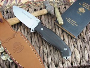 Viper Cutlery Pointer Ebony Wood Hunter Fixed Blade N690 4870EB