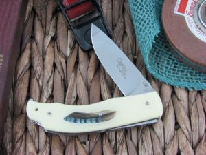 Viper Knives Quality Drop Point Resin Encased Feather handles N690 steel Polished 5500INGH