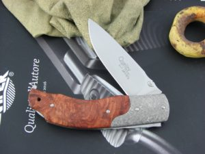 Viper Knives Quality Drop Point Amboyna Burl handles N690 steel Polished 5510RA