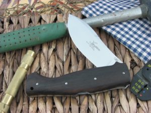 Viper Cutlery Venator Hunter Ebony Wood handles N690 steel Satin 5800EB