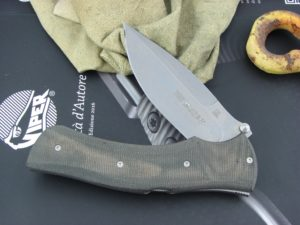 Viper Knives Start Hunter Black Canvas Micarta handles D2 steel Stonewashed 5850CN