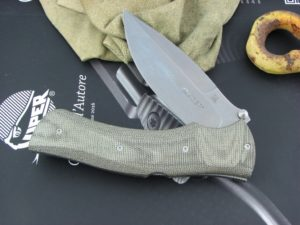 Viper Knives Start Hunter OD Green Canvas Micarta handles D2 steel Stonewashed 5850CV