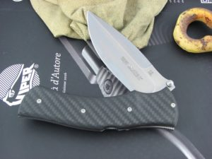 Viper Knives Start Hunter Carbon Fiber handles D2 steel Stonewashed 5850FC