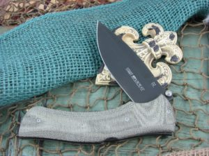 Viper Knives Start Hunter Green Canvas Micarta handles D2 steel PVD Coated 5860CV