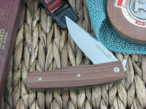 Viper Knives Keeper Clip Pau Santo Wood handles N690 steel Satin 5870CB