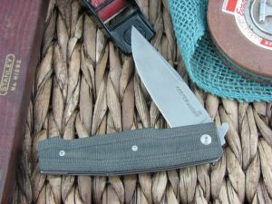 Viper Knives Keeper Clip Black Canvas Micarta handles D2 steel Stonewashed 5880CN