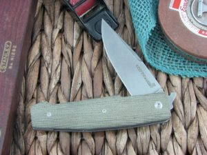 Viper Knives Keeper Clip OD Green Canvas Micarta handles D2 steel Stonewashed 5880CV