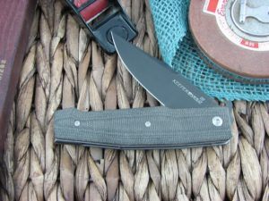 Viper Knives Keeper Clip Black Canvas Micarta handles D2 steel Black PVD 5890CN