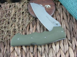Viper Knives Rhino Hunter Green G10 handles D2 steel Stone Wash 5902GR