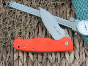 Viper Cutlery Italo Framelock Spear Flipper Orange G10 handles M390 steel Satin 5944GO