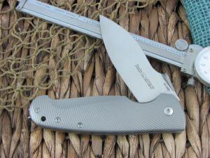 Viper Cutlery Italo Framelock Spear Flipper Titanium handles M390 steel Satin 5944TI