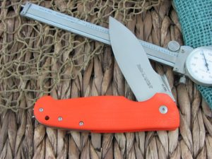 Viper Cutlery Italo Linerlock Spear Flipper Orange G10 handles M390 steel Satin 5948GO