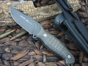 Viper Cutlery David Black Canvas Micarta Hunter Fixed Blade D2 4002ECB
