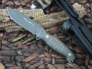 Viper Cutlery Goliath Black Canvas Micarta Hunter Fixed Blade D2 4003ECB