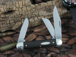 Great Eastern Cutlery Calf Roper Stockman Tidioute Ebony Wood 661317