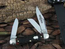 Great Eastern Cutlery Calf Roper Medium Stockman Northfield Hemlock Green Bone 661317
