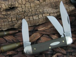 Great Eastern Cutlery Calf Roper Stockman Tidioute OD Canvas Micarta 661317