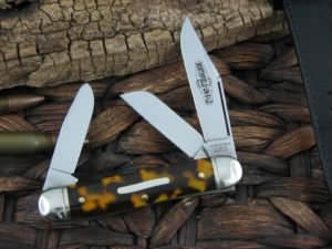 Great Eastern Cutlery Calf Roper Medium Stockman Northfield Tortoise Acrylic 661317