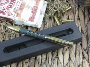 Nyala Shine Bronze Titanium Carbon Fiber Space Pen by Lion Steel