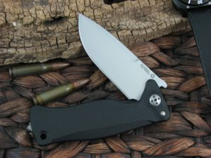 Lion Steel SR11 Drop Point blade Black Aluminum frame Sleipner steel SR11ABS