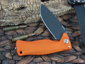Lion Steel SR11 Drop Point blade Orange Aluminum frame Sleipner steel SR11AOB