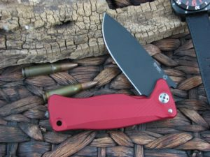 Lion Steel SR11 Drop Point blade Red Aluminum frame Sleipner steel SR11ARB