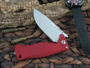 Lion Steel SR11 Drop Point blade Red Aluminum frame Sleipner steel SR11ARS