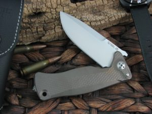 Lion Steel SR11 Drop Point blade Bronze Titanium frame Sleipner steel SR11B