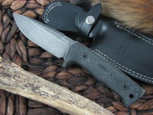 Lion Steel T5 Milled Black Micarta handles Niolox steel T5BMI