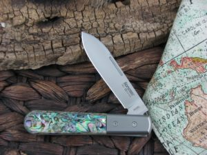 Lion Steel Roundhead Spear Jack Abalone Handles M390 Steel CK0101
