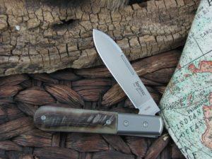 Lion Steel Roundhead Spear Jack Rams Horn Handles M390 Steel CK0101