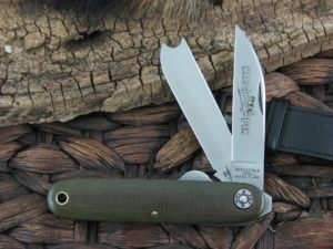 Great Eastern Cutlery Farm and Field Calf Pen with OD Linen Micarta handles 350217