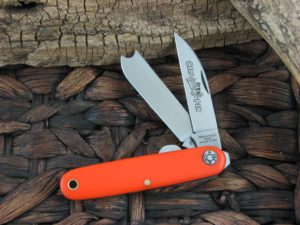 Great Eastern Cutlery Calf Pen Farm and Field Orange Delrin 350217