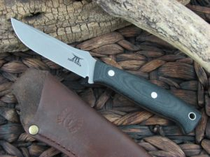 White River Knives Tom Mack Hunt with Black Micarta handles WRTMHUNT