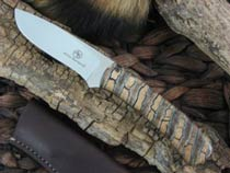 Arno Bernard Knives Grazer Kudu with Mammoth Molar handles