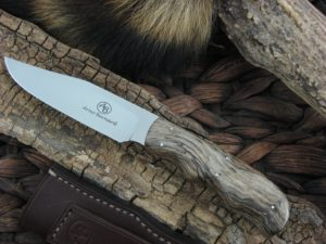 Arno Bernard Knives Scavenger Vulture with Spalted Maple handles