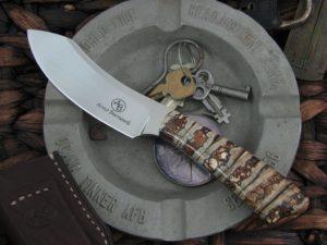 Arno Bernard Knives Scavenger Wasp with Mammoth Molar handles