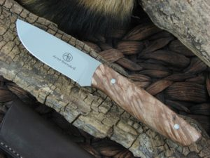 Arno Bernard Pro Hunter Wildebeest with Maple Burl handles